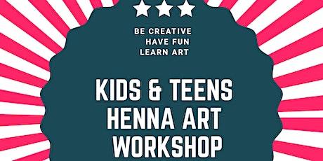 Kids & Teens Henna Art Workshop- WINTER HUB!!! tickets