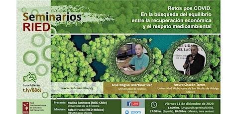 Seminario RIED: Equilibrio entre recuperación y respeto medio ambiental entradas