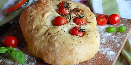Online Cookery Class: No Knead Focaccia tickets