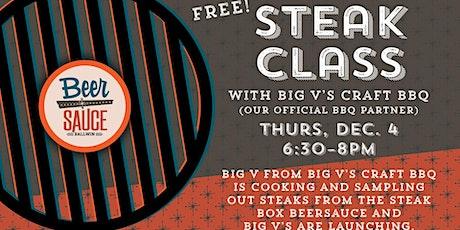 Steak Class & Sampling tickets