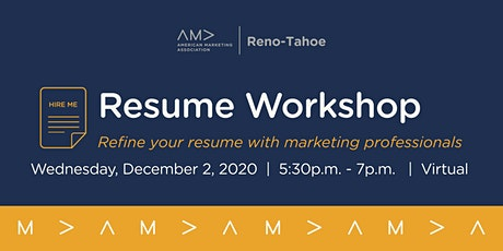 Resume Workshop tickets