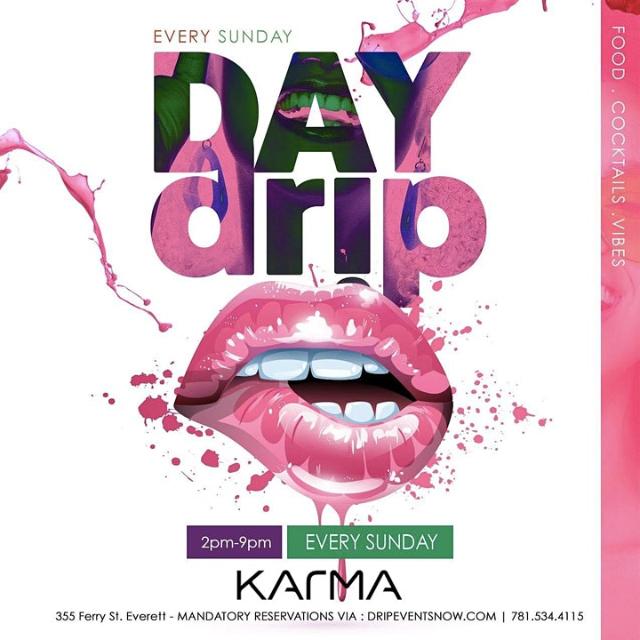 EVERY SUNDAY DAY DR!P BRUNCH |4pm-12am | KARMA LOUNGE image