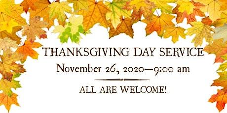 Thanksgiving Day Service boletos
