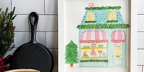 Virtual Holiday Paint & Sip Patisserie Watercolor Workshop tickets