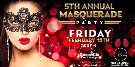 5th Annual Masquerade Dance Party at Zen. tickets