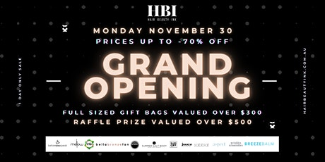 Hair Beauty Ink Brisbane Grand Opening tickets