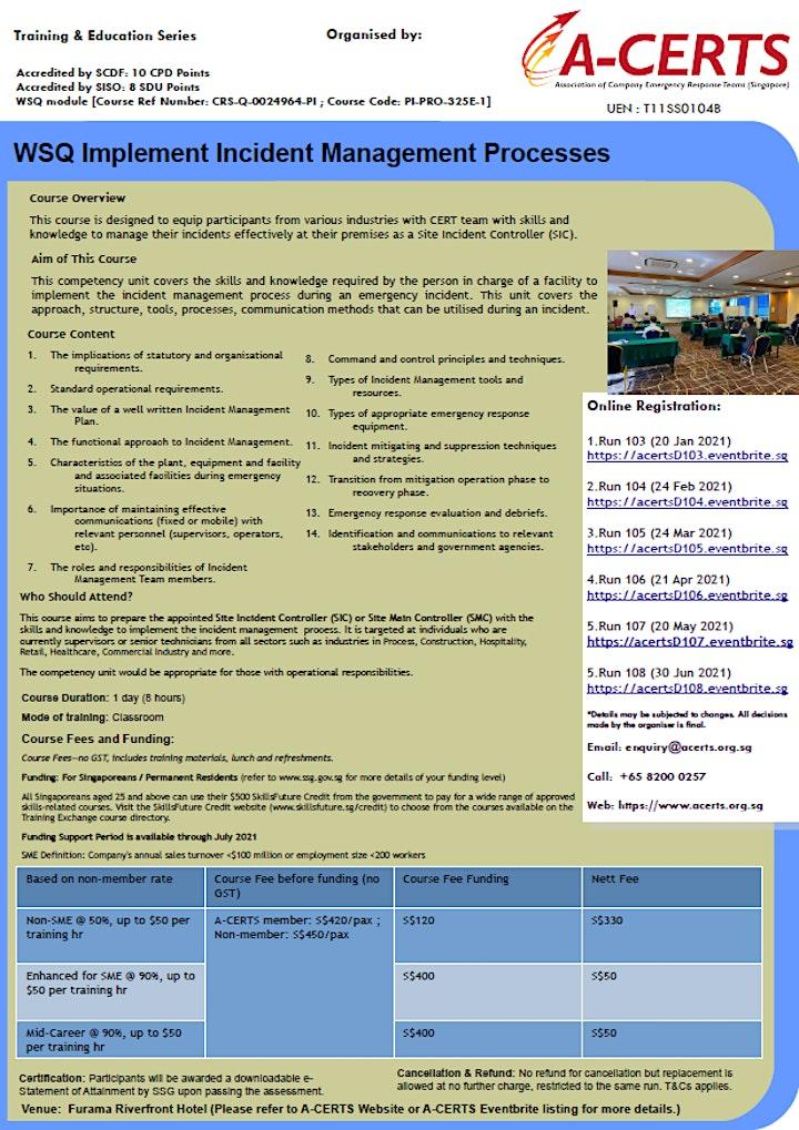 A-CERTS Training:WSQ Implement Incident Management Processes Run 104 image