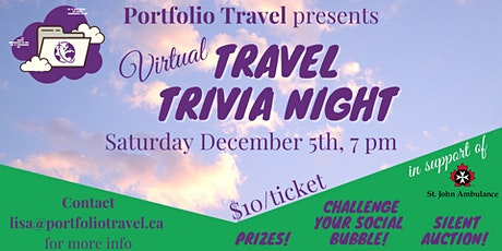 Virtual Travel Trivia in support of St.John Ambulance Niagara Region Branch tickets