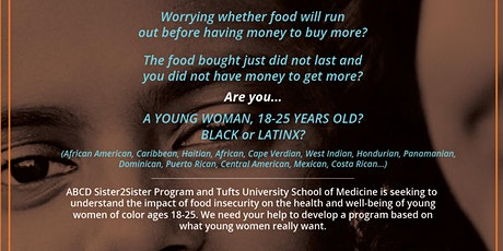 Sister2Sister/Tufts Food Insecurity Focus Group Registration tickets