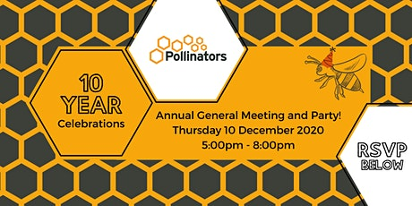 Pollinators Annual General Meeting and 10 Year Celebrations tickets
