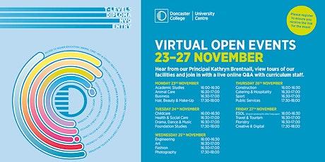 Virtual November Open Event tickets