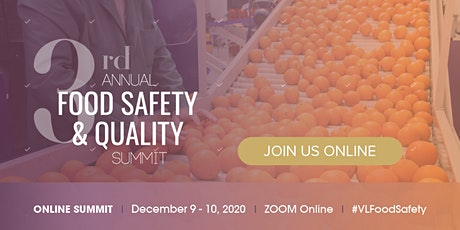 3rd Food Safety & Quality Online Summit tickets