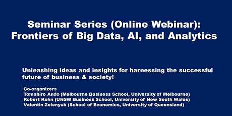 Frontiers of Big Data, AI, and Analytics tickets