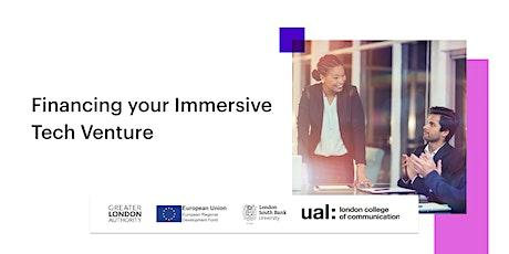 Financing your Immersive Tech Venture tickets
