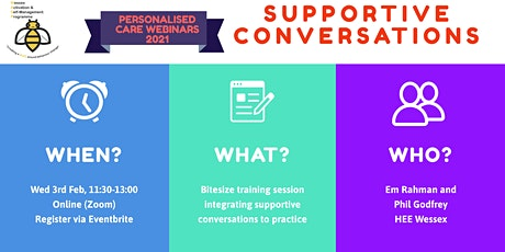 2021 FREE WASP Webinar - Supportive Conversations tickets
