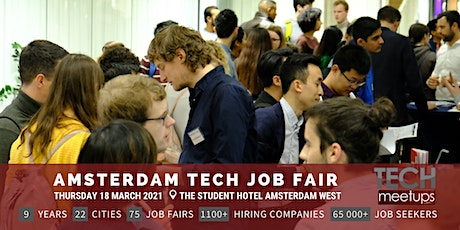Amsterdam Tech Job Fair by Techmeetups tickets