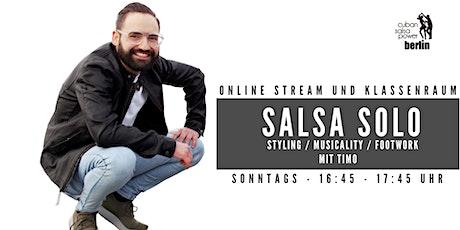 Salsa Solo - Online Kurs Tickets