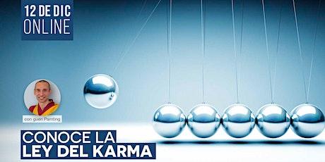 CURSO ONLINE: Conoce la ley del karma entradas