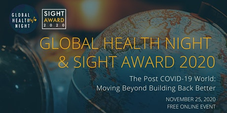 The Post COVID-19 World: Moving Beyond Building Back Better tickets
