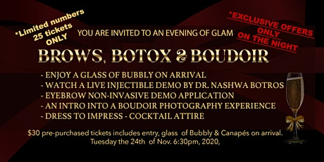 Ladies evening - Brows, Botox and Boudoir tickets