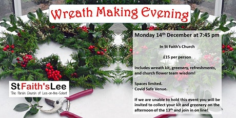Wreath Making Evening tickets