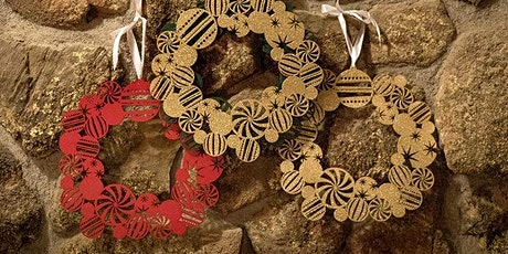 Make Your Own Wooden Christmas WREATH, laser, Fab Lab, holiday tickets