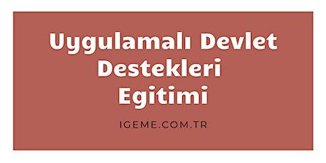 UYGULAMALI DEVLET DESTEKLERİ EĞİTİMİ (ÜCRETLİ -İZMİR)İGEME tickets