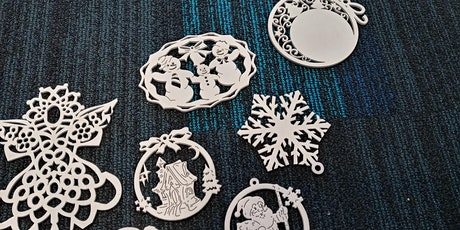 Create Your Own set of Wooden Christmas Ornaments.Gift Tags, laser, holiday tickets