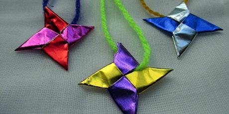 Festive Origami Fold tickets