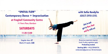 """Spatial Flow"" Contemporary Dance + Improvisation class with Sofia Kondylia tickets"
