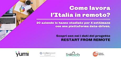 Come lavora l'Italia in remoto? biglietti