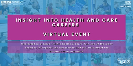 Mental Health & Wellbeing - Insight into Health and Care Careers tickets