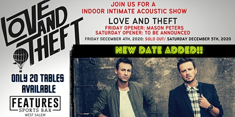 LOVE AND THEFT ACOUSTIC SHOW- SATURDAY NIGHT tickets