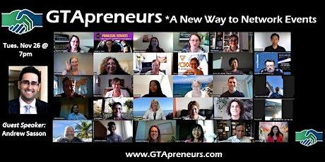 GTApreneurs Online Evening Networking Event tickets