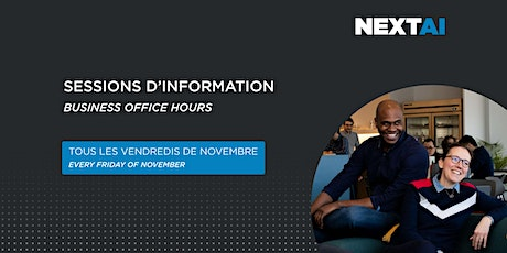 Sessions d'information #4 | Business Office Hours #4 tickets