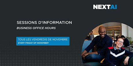 Sessions d'information #5 | Business Office Hours #5 tickets