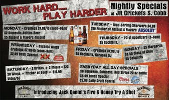 "Weekly Special's "" Work Hard - Play Harder"""