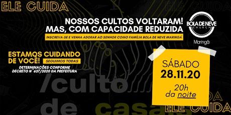 CULTO CASAIS (SÁB 28/11) 20h00 ingressos