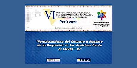 #ConfCat20: Conferencia Interamericana de Catastro y Registro de Propiedad boletos