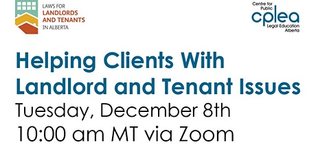 Helping Clients with Landlord and Tenant Issues Webinar tickets