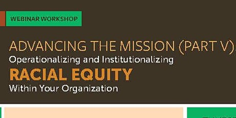 Advancing The Mission: Session V tickets