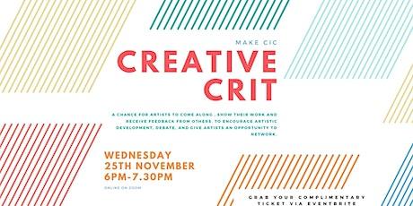 Creative Crit #2 - Online tickets