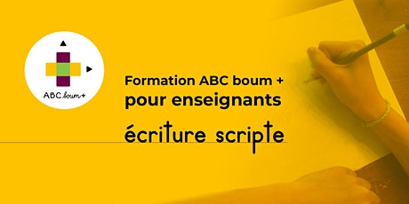 ABC boum + pour enseignants : écriture scripte billets