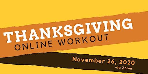 Thanksgiving Online Workout