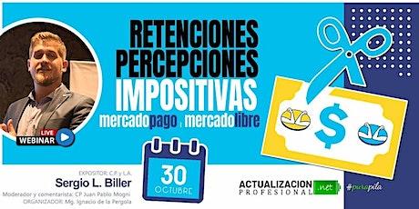 -GRABACION Retenciones/Percepciones impositivas en MercadoPago y M.Libre entradas