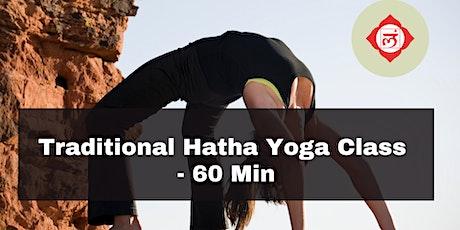 Traditional Hatha Yoga Class - 60 Min tickets