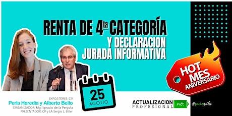 -GRABACION Renta de 4ta Categoría y Declaración Jurada Informativas AFIP boletos