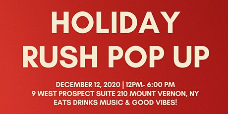 Holiday Rush Pop Up Shop tickets