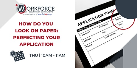 How Do You Look? Perfecting Your Application tickets