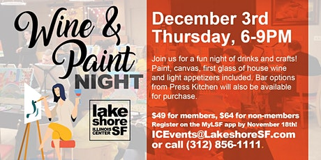 Wine & Paint Night at Lakeshore Sport & Fitness - Illinois Center tickets